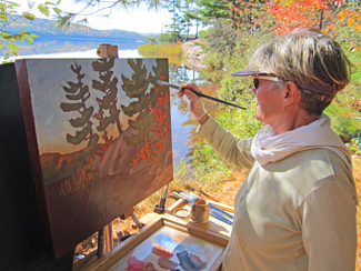 Joyce Burkholder, Canadian Wilderness Artist, Wilno, Ontario