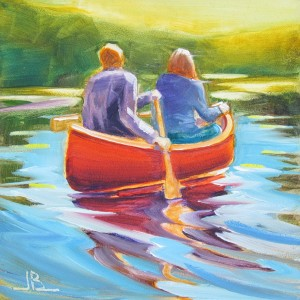 Friends-Paddling